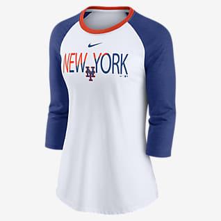 Nike Color Split (MLB New York Mets) Women's 3/4-Sleeve T-Shirt