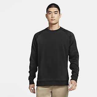 Nike Dri-FIT Player Camiseta de cuello redondo de golf de manga larga para hombre