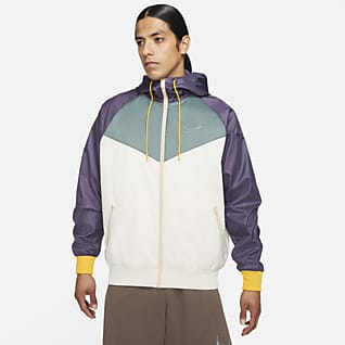 Nike Sportswear N7 Windrunner Chamarra con gorro con cierre completo de tejido Woven