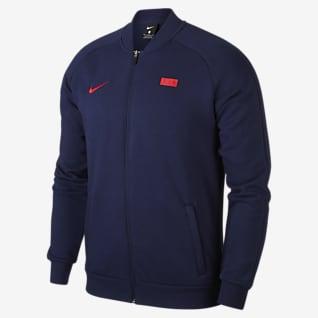FFF Veste de survêtement de football en tissu Fleece pour Homme