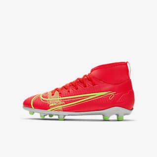 Nike Jr. Mercurial Superfly 8 Club MG รองเท้าสตั๊ดฟุตบอลเด็กเล็ก/เด็กโตสำหรับพื้นหลายประเภท