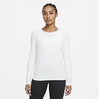 Nike Dri-FIT ADV Aura Langermet treningsoverdel med smal passform til dame