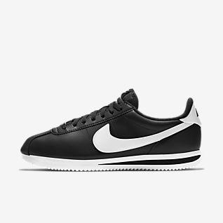 Hombre Negro Cortez Calzado. Nike CL