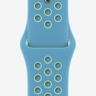 40mm Chlorine Blue/Green Glow Nike Sportarmband – Normalgröße