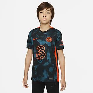 Chelsea FC 2021/22 Stadium (wersja trzecia) Koszulka piłkarska dla dużych dzieci Nike Dri-FIT