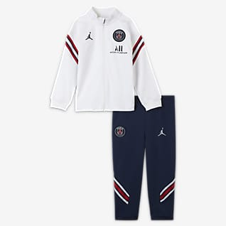 Paris Saint-Germain Strike Nike Dri-FIT-fodboldtracksuit i maskinstrik til babyer