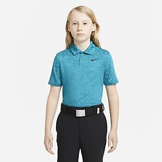 Nike Dri-FIT Tiger Woods Polo de golf con estampado para niño talla grande
