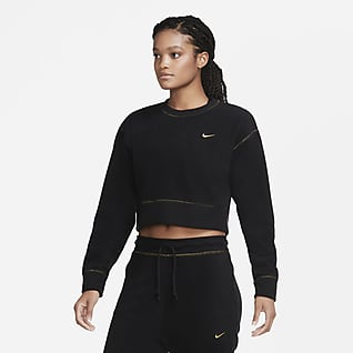 Nike Therma Icon Clash Langarm-Fleece-Trainingsoberteil für Damen