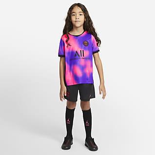 Paris Saint-Germain 2021/22 Fourth Fußballtrikot-Set für jüngere Kinder