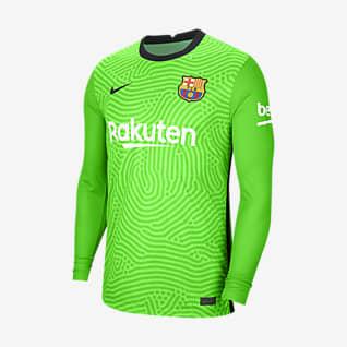 FC Barcelona 2020/21 Stadium Goalkeeper Fotbollströja för män