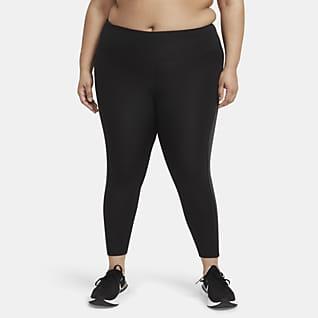 Nike Epic Fast Løpeleggings i 7/8 lengde med mellomhøyt liv til dame (Plus Size)