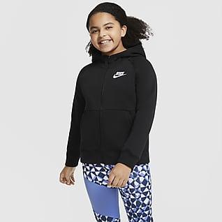 Nike Sportswear Sudadera con capucha con cremallera completa (Talla grande) - Niña