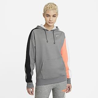 Nike Therma Fleece-Pullover mit Color-Blocking für Damen