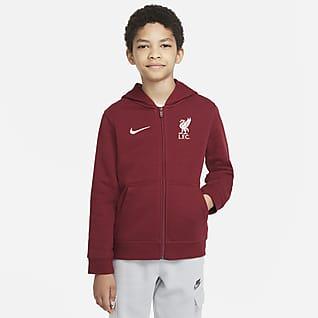 Liverpool FC Sweat à capuche en tissu Fleece à zip pour Enfant plus âgé