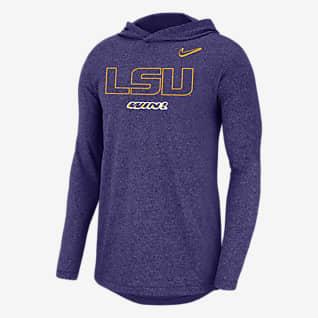 Nike College (LSU) Men's Long-Sleeve Hoodie T-Shirt