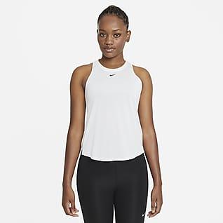 Nike Dri-FIT One Camisola sem mangas de corte padrão para mulher