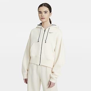 Nike Sportswear Air Max Sudadera con capucha de tejido Fleece con cierre completo para mujer