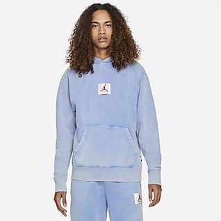 Jordan Flight Fleece Pullover-hættetrøje med grafik til mænd