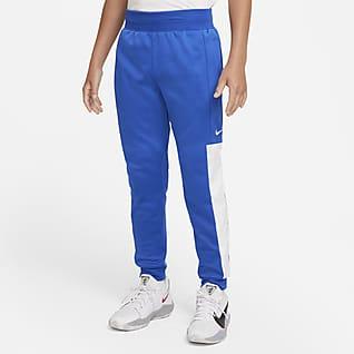 Nike Therma-FIT Elite Pantalones de básquetbol para niño talla grande
