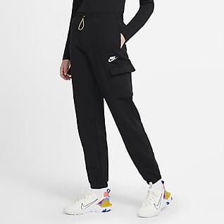 Nike Sportswear Cargobyxor i fleece för kvinnor