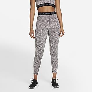 Nike Pro Leggings cropped de cintura alta y teñido Space-Dye para mujer