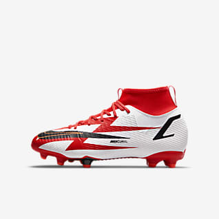Nike Jr. Mercurial Superfly 8 Academy CR7 MG รองเท้าสตั๊ดฟุตบอลเด็กเล็ก/เด็กโตสำหรับพื้นหลายประเภท