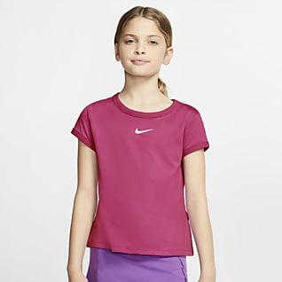 NikeCourt Dri-FIT Koszulka do tenisa dla dużych dzieci (dziewcząt)