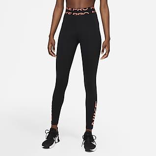 Nike Pro Dri-FIT Dámské legíny se středně vysokým pasem apotiskem