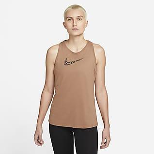 Nike Dri-FIT Grafisk træningstanktop til kvinder