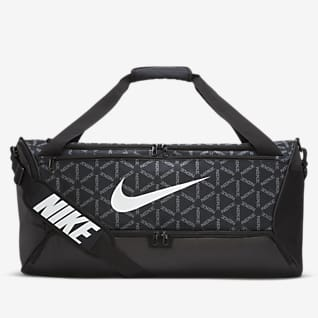 Nike Brasilia กระเป๋า Duffel เทรนนิ่งพิมพ์ลาย (ขนาดกลาง)