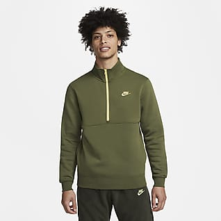 Nike Sportswear Club Maglia con rovescio spazzolato e zip a metà lunghezza - Uomo