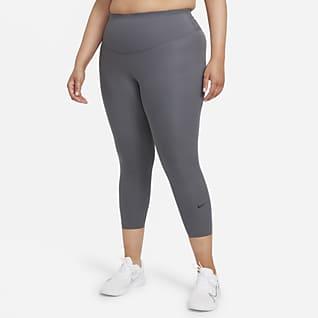 Nike One Luxe Leggings cropped de tiro medio para mujer (talla grande)