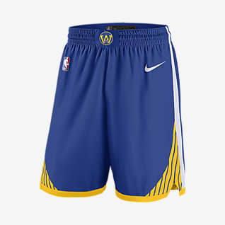 Golden State Warriors Icon Edition Nike NBA Swingman Shorts für Herren