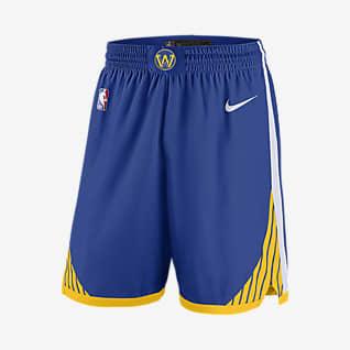 Golden State Warriors Icon Edition Nike NBA Swingman-shorts för män