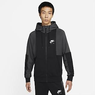 Nike Air 男款全長式拉鍊 Fleece 連帽上衣