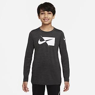Nike Dri-FIT Older Kids' (Boys') Long-Sleeve Training Top