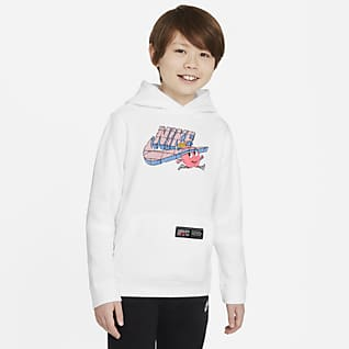 Nike Sportswear Club Sudadera con gorro sin cierre para niño talla grande