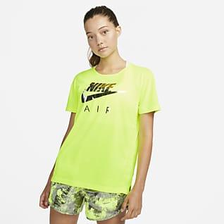 Nike Air Dri-FIT Kortärmad löpartröja för kvinnor