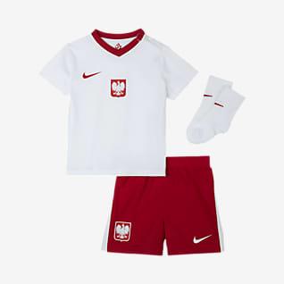 Домашняя форма сборной Польши 2020 Футбольный комплект для малышей