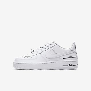 Girls' Air Force 1 Low Top Shoes. Nike PT
