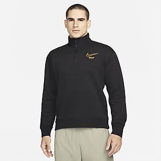 Nike SB Parte de arriba de skateboard con media cremallera de tejido Fleece - Hombre
