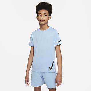 Nike Instacool Футболка для тренинга с коротким рукавом для мальчиков школьного возраста