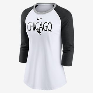 Nike Color Split (MLB Chicago White Sox) Women's 3/4-Sleeve T-Shirt