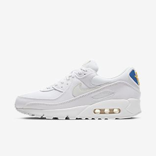 Nike Air Max 90 Essential shoes white blue turquoise