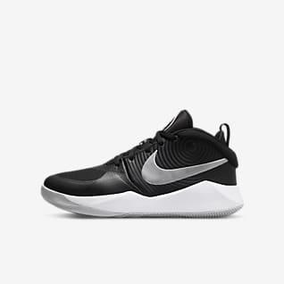 Nike Team Hustle D 9 Basketbalová bota pro větší děti