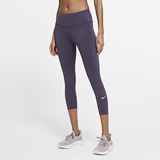 Nike Epic Luxe Γυναικείο κολάν crop μεσαίου ύψους για τρέξιμο με τσέπες