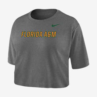 Nike College Dri-FIT (FAMU) Women's Crop T-Shirt