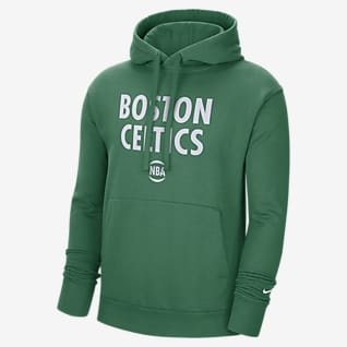Boston Celtics City Edition Logo Nike NBA-s belebújós, kapucnis férfipulóver