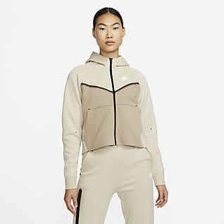 Nike Sportswear Tech Fleece Windrunner เสื้อมีฮู้ดซิปยาวผู้หญิง