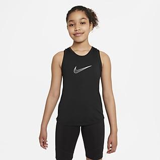 Nike Dri-FIT One Camisola de treino sem mangas Júnior (Rapariga)